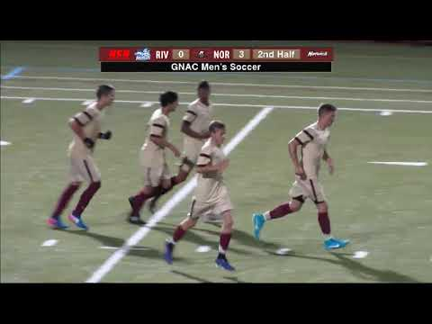 Rivier University at Norwich University Men's Soccer Highlights