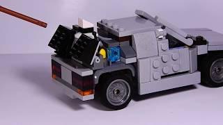 lego самодельная машина времени делориан из фильма назад в будущее