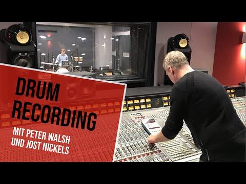 Drum Recording Workshop: Jost Nickel und Peter Walsh am Abbey Road Institute Frankfurt