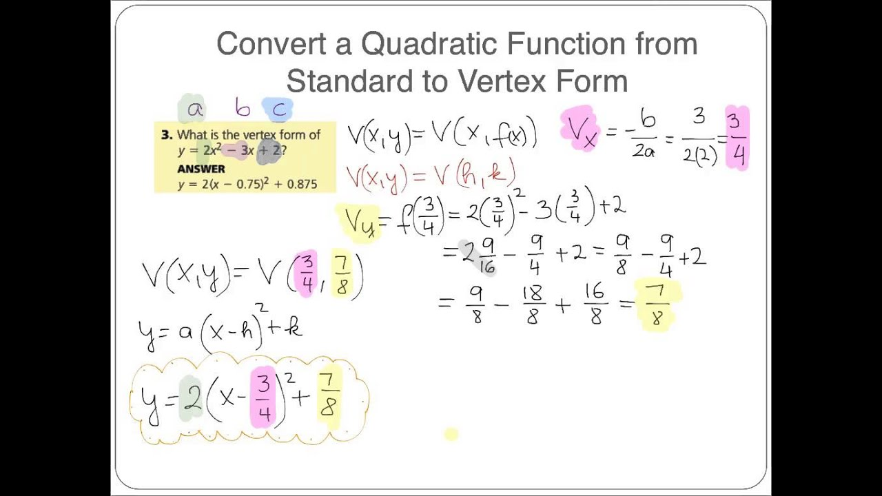 Algebra 2 honors 42 graphing quadratic functions in standard form algebra 2 honors 42 graphing quadratic functions in standard form falaconquin