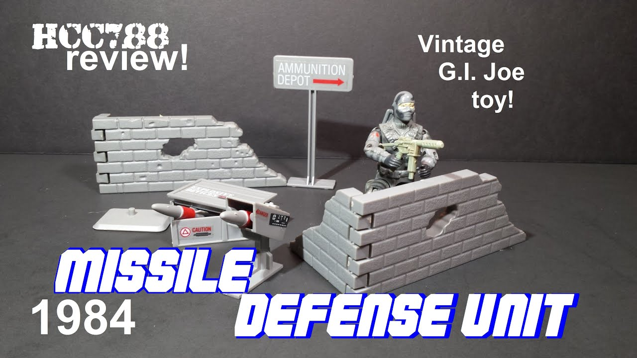 3 GI Joe 1984 Missile Defense Unit Missile Set w decals Vintage Playset Part