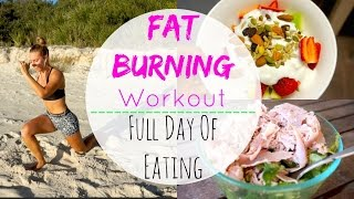 At Home Fat Burning Workout + Full Day of Healthy Eating