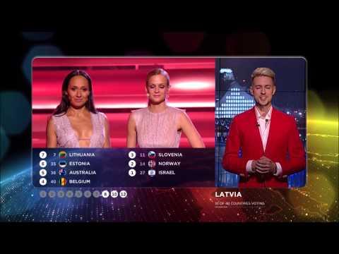 Eurovision 2015 : Vote of Latvia (HD) (1080p)
