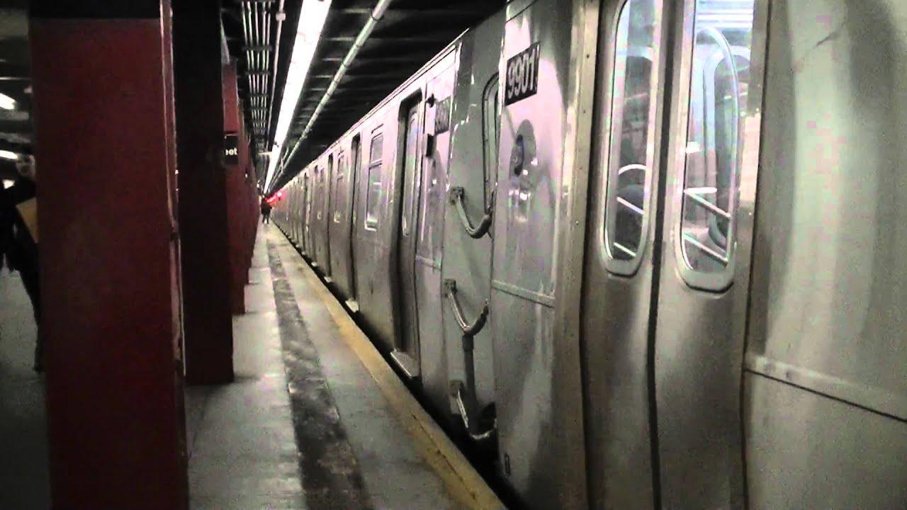 Coney Island Bound R160A / R160B F Train @ 57th Street ...
