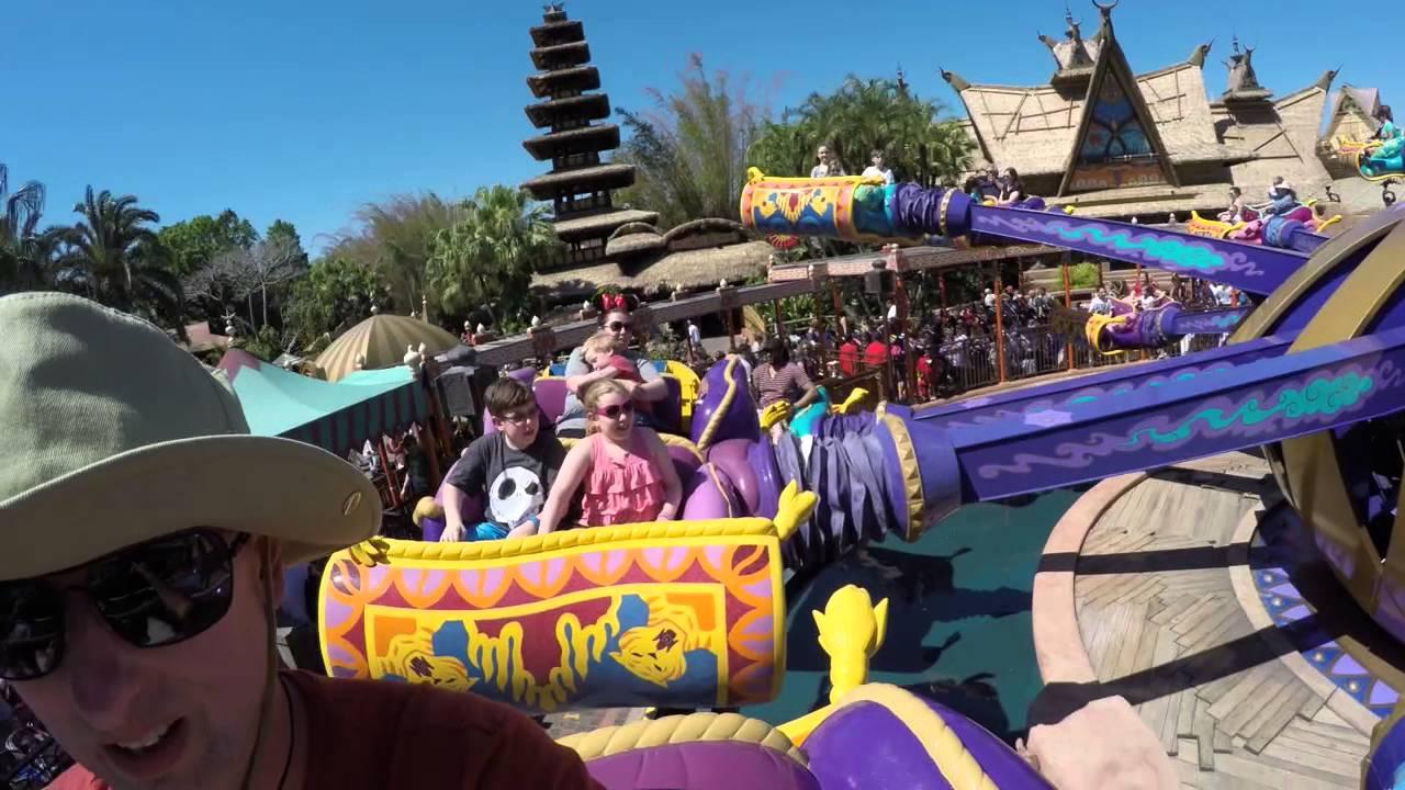 Aladdins Magic Carpet Ride Disney World Spring Break 2017 4k Ultra Hd Full