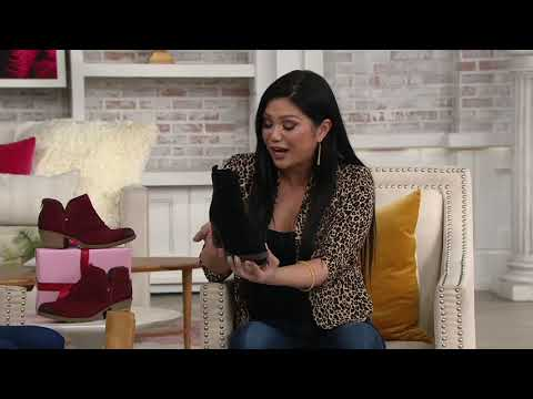 Franco Sarto Suede Ankle Boots - Tori On QVC