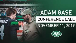 Adam Gase Conference Call (11/11) | New York Jets | NFL