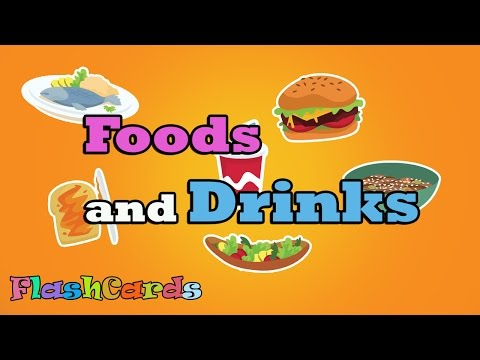 [Flashcards for kids - Food & Drink] Kids learn/study food & drink  || Free Printable Flash Cards