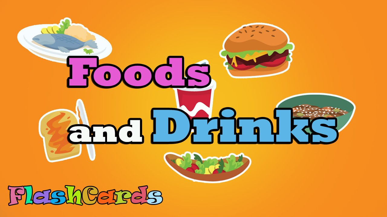 food flash flashcards cards drink printable learn