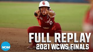 Oklahoma vs. Florida State: 2021: WCWS Finals Game 2   FULL REPLAY