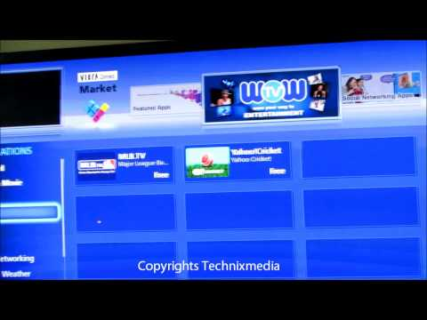Panasonic Smart Vierra TV Internet App Store Overview