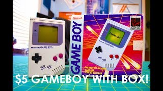 Garage Sale finds: $5 Original Nintendo Game Boy With Box and Games