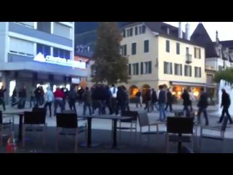 Sierre vs Red Ice Incident en ville de Sierre 19-10-2012