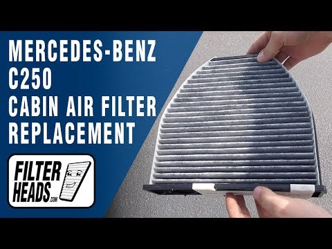 How to Replace Cabin Air Filter 2013 Mercedes-Benz C250