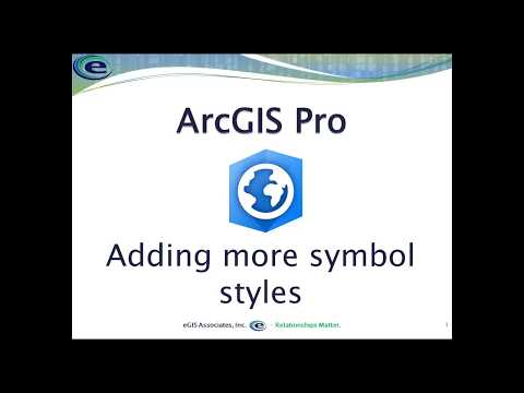 Video: Adding Symbol Styles to ArcGIS Pro |