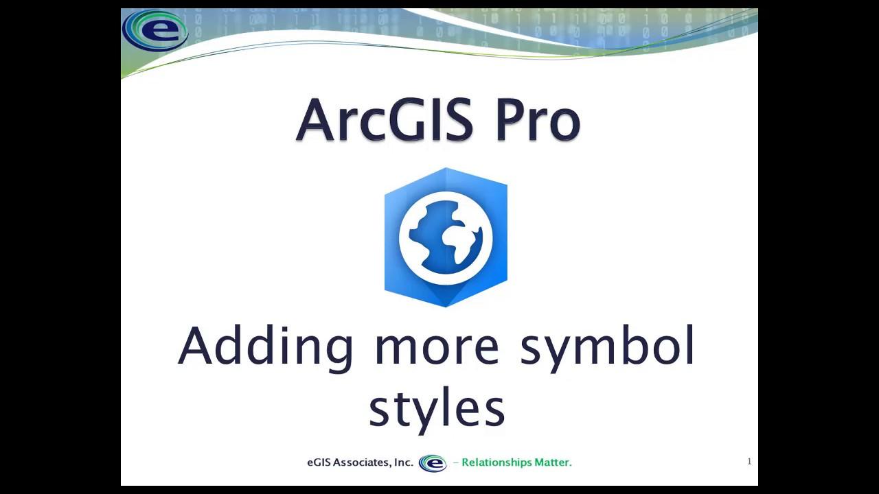 Adding Symbology Styles to ArcGIS Pro
