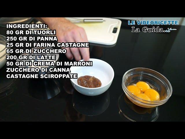 Videoricetta crème brûlée alle castagne