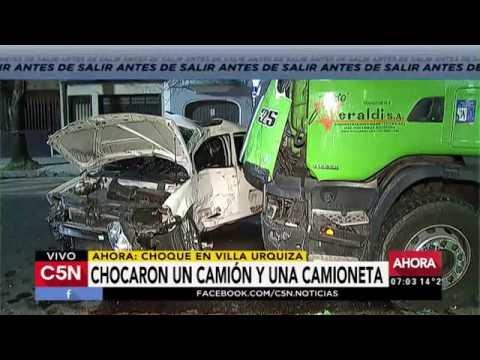C5N - Tránsito: Choque en Galván y Avenida Congreso, Villa Urquiza