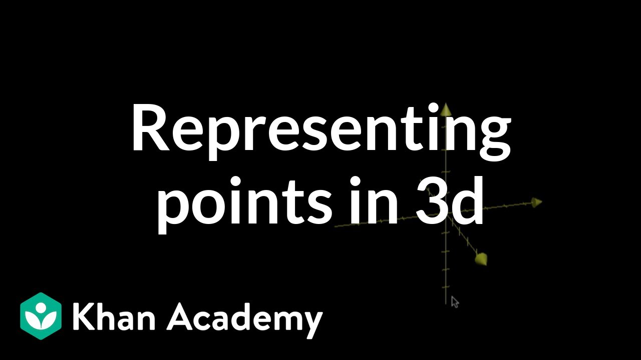 Representing points in 3d (video) | Khan Academy