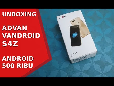 Unboxing Advan Vandroid S4Z, Android 500 Ribu