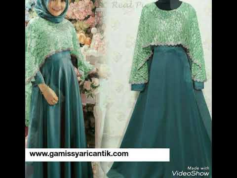 Model Baju Gamis Pesta Dan Lebaran 2018 081213381472 Youtube