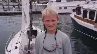 Gannon Troutman, 12-year-old skipper of