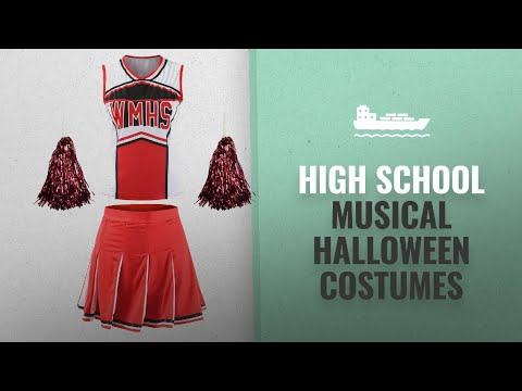 Great High School Musical Halloween Costumes Collection [2018]: Red Cheerleader Fancy Dress Outfit