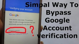 Simpal Way To Bypass Google Account Verification (With out PC OTG ASSIST BUTTON)
