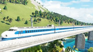 First High Speed Train Ever Built | Shinkansen | Transport Fever 2 Railway Building Tycoon Gameplay