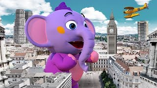 Giant Elephant In The City | 3D Nursery Rhymes For Kids By All Babies Channel