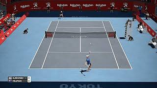 Novak Djokovic vs John Millman Japan 2019 - AO International Tennis Gameplay