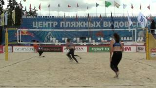 05 Beach Volleyball EEVZA 2015 Russia Babenka-Mileuskaya and F…