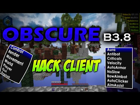 Obscure 3.8 Hacked Client Minecraft 1.8/ Download