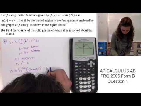 AP Calculus AB FRQ 2005 Form B Question 1 - YouTube