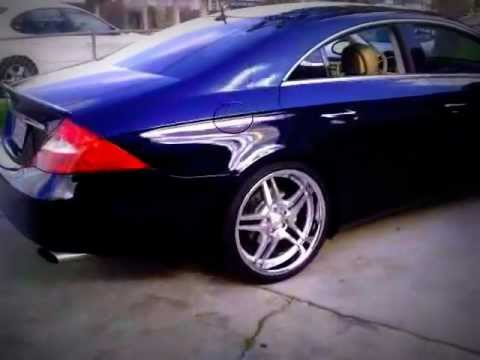 Cls 500 Lowered On Air Suspension With 20 Euromag Em2 Staggered