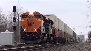CNJ Heritage Unit Leads 20T at Ft Wayne Indiana Norfolk Southern