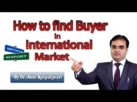 How to Find Buyer in International Market in Hindi विदेश व्य