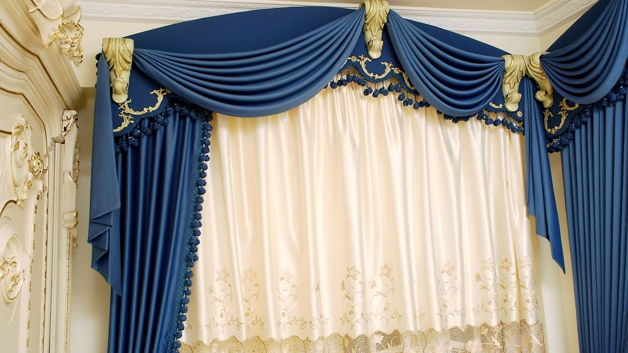 how to make swags and tails curtains leaning swags youtube. Black Bedroom Furniture Sets. Home Design Ideas