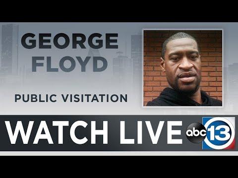 WATCH: George Floyd public viewing in Houston