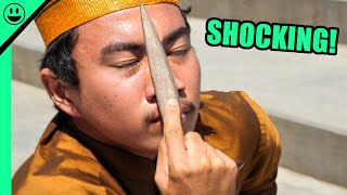 EXTREME Indonesian Knife Ritual!!! (Raw Clip)