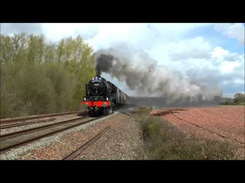The Great Britain 1X with LMS 46100