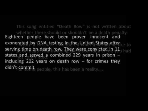 Death Row - best song ever written about death row
