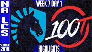 Video TL vs 100 Highlights | NA LCS Summer 2018 Week 7 Day 1 | Team Liquid vs 100 Thieves download MP3, 3GP, MP4, WEBM, AVI, FLV Agustus 2018