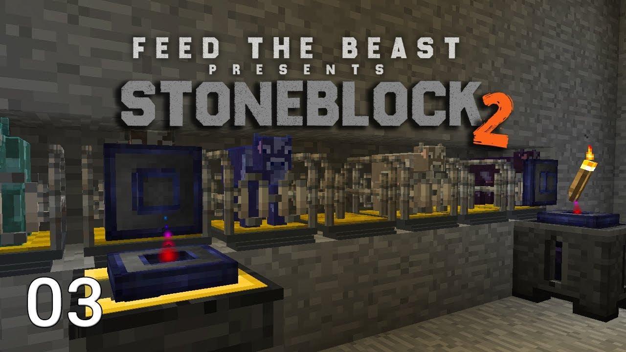 FTB Stoneblock 2 EP3 Wireless Power + Starting Fluid Cows