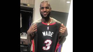 Lebron James makes Dwyane Wade night all about him