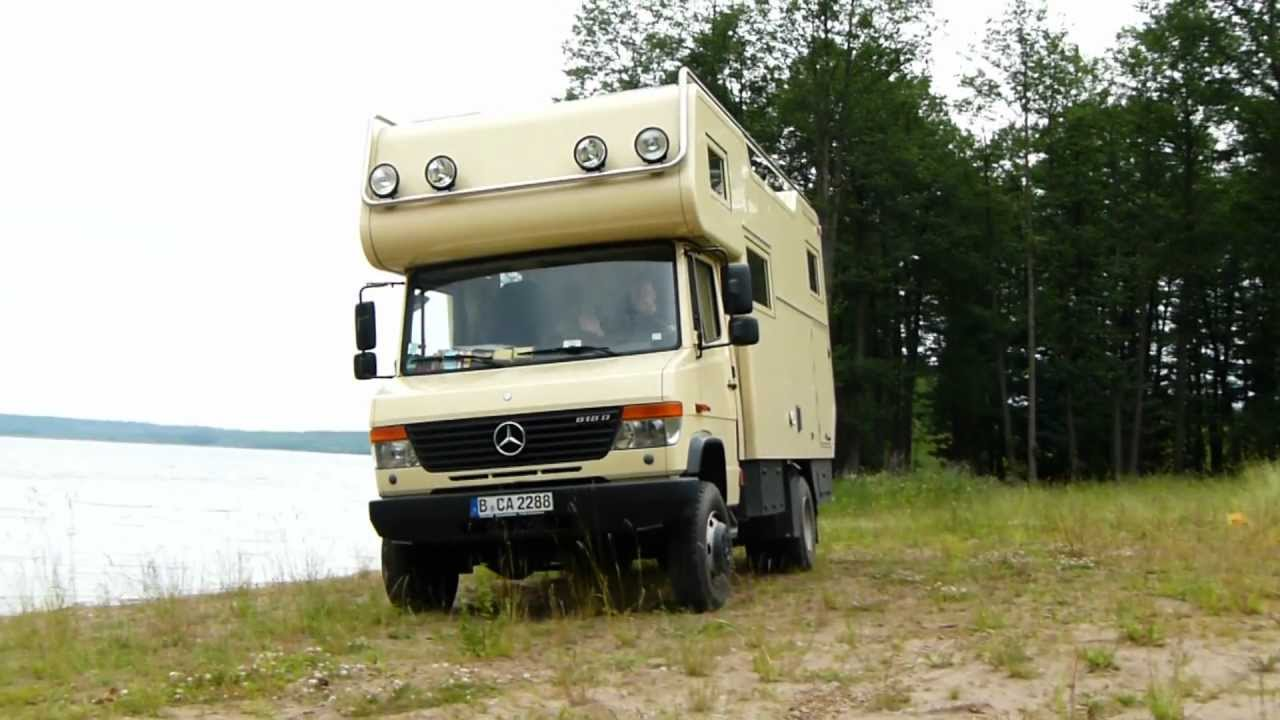 Mercedes Vario 818 4x4 am Seeufer - YouTube