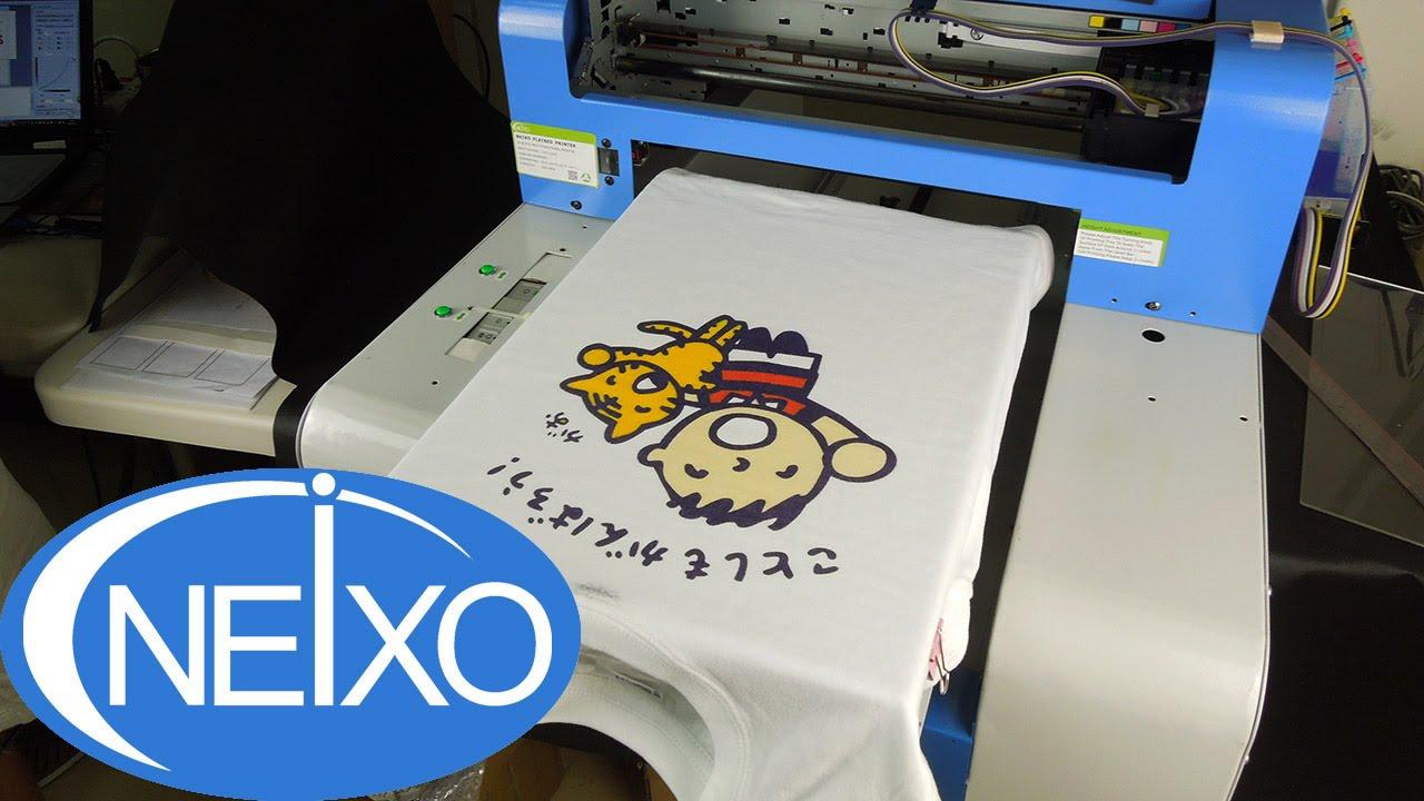 685b84b2 DTG printing on white color T shirt - YouTube