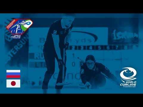 Russia v Japan - Round-robin - World Mixed Doubles Curling Championship 2018