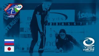 Russia v Japan Roundrobin World Mixed Doubles Curling Championship 2018
