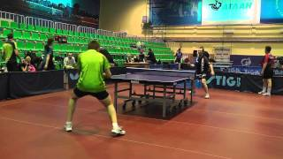 настольный теннис - атака в край стола